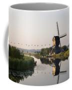 Wind Mill On A Canal, Holland Coffee Mug