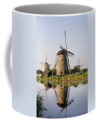 Wind Mills Next To Canal, Holland Coffee Mug