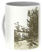 Wind Point Lighthouse Drawing Mode 2 Coffee Mug