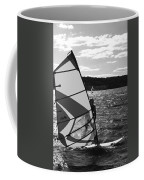 Wind Surfer II Bw Coffee Mug