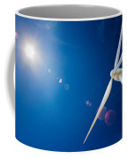 Wind Turbine And Sun  Coffee Mug