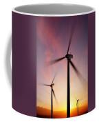 Wind Turbine Blades Spinning At Sunset Coffee Mug