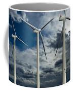 Wind Turbines Blue Sky Coffee Mug