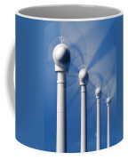 Wind Turbines In Motion From The Front Coffee Mug