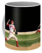 Wind Up And Delivery 4 Panel Composite Digital Art Coffee Mug by Thomas Woolworth