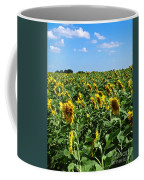 Windblown Sunflowers Coffee Mug