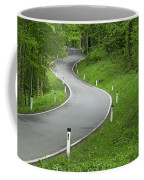 Winding Road In The Woods Coffee Mug