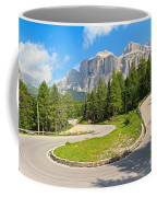 Winding Road To Pordoi Pass Coffee Mug