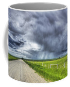 Windmill And Country Road With Storm Coffee Mug