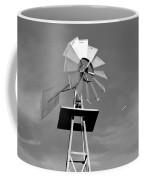 Windmill And Passing Plane Coffee Mug
