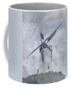 Windmill At Damme In Belgium Countryside Coffee Mug