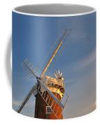 Windmill At Dusk On The Norfolk Broads In Autumn Coffee Mug