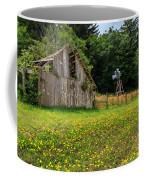 Windmill Flowers And A Barn Coffee Mug