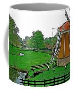 Windmill In A Park In Enkhuizen-netherlands Coffee Mug