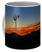 Windmill Silhouette Coffee Mug by Robert Bales