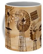 Windmills In Sepia Coffee Mug
