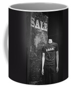 Window Display Sale In Black And White Photograph With Mannequin No.0129 Coffee Mug
