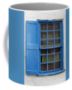 window in blue - British style window in a mediterranean blue Coffee Mug