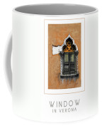 Window In Verona Poster Coffee Mug