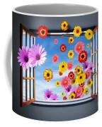 Window Of Flowers Coffee Mug