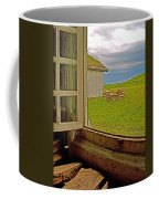 Window On Sod-covered Roof In Louisbourg Living History Museum-1744-ns Coffee Mug