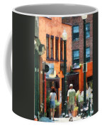 Window Shopping In Downtown Asheville Coffee Mug