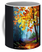 Window To The Fall - Palette Knife Oil Painting On Canvas By Leonid Afremov Coffee Mug
