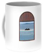Window View Of Desert Island Puerto Rico Prints Coffee Mug