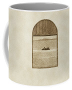 Window View Of Desert Island Puerto Rico Prints Vintage Coffee Mug