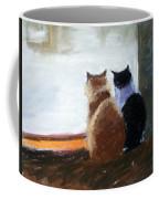 Window Watching Coffee Mug
