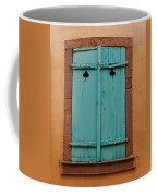 Window With Turqouise Shutters In Colmar France Coffee Mug