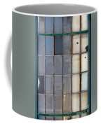 Windows In Blue Building Vertical Coffee Mug