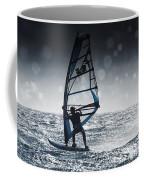 Windsurfing With Water Drops On Camera Coffee Mug
