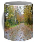 Windy And Rainy Fall Day Coffee Mug