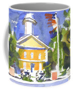 Windy Day At The Courthouse Coffee Mug