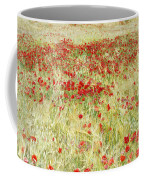 Windy Poppies At The Fields Coffee Mug