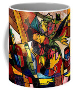 Wine And Flowers For Two Coffee Mug