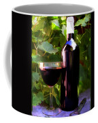 Wine In The Sunset Coffee Mug by Elaine Plesser
