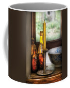 Wine - Nestled In A Corner Of A Window Sill  Coffee Mug by Mike Savad