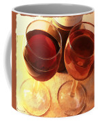 Wine Toast In Watercolor Coffee Mug by Elaine Plesser