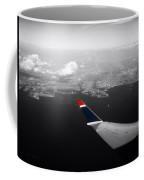 Wing Tip View Over Long Beach Ca Sc Coffee Mug