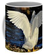 Wings Of A White Duck Coffee Mug