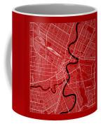 Winnipeg Street Map - Winnipeg Canada Road Map Art On Color Coffee Mug