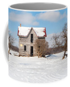 Winter Abandoned Farmouse Coffee Mug