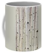 Winter Aspen Tree Forest Portrait Coffee Mug