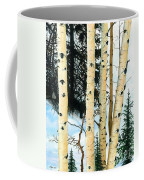 Winter Aspens Coffee Mug