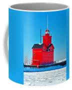 Winter At Big Red Coffee Mug