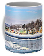Winter At Boathouse Row In Philadelphia Coffee Mug by Simon Wolter