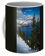 Winter At Crater Lake Coffee Mug
