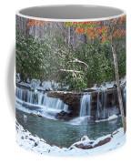 Winter At Mash Fork Falls Coffee Mug